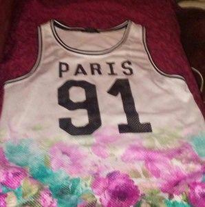 Forever 21.floral 91  Paris jersey. Size m